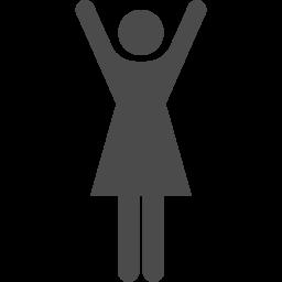 バンザイ女性